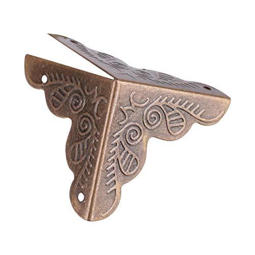 12 piezas de madera, decoración de la esquina de la cubierta del borde, protector de la esquina, caja de joyería caja de caja nueva para escritorio para el hogar(Bronze)