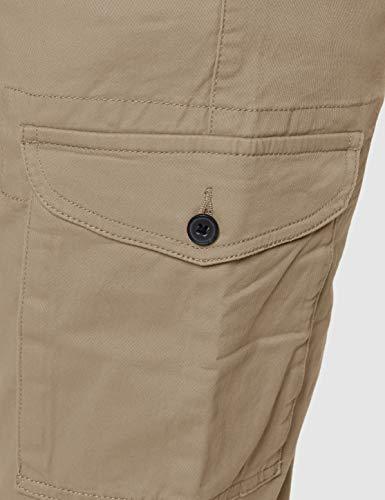 Amazon Brand - MERAKI Men's Stretch Slim Fit Cargo Trousers, Beige (Sand), 38W / 32L, Label:38W / 32L