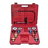 vidaXL Testeur Universel Pression Circuit Refroidissement 14 pcs Outils Garage