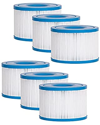 Fil-fresh Type S1 Filter Compatible with Intex Spa Hot Tub, for PureSpa Easy Set Pool, Replace 29001E (6 Packs)