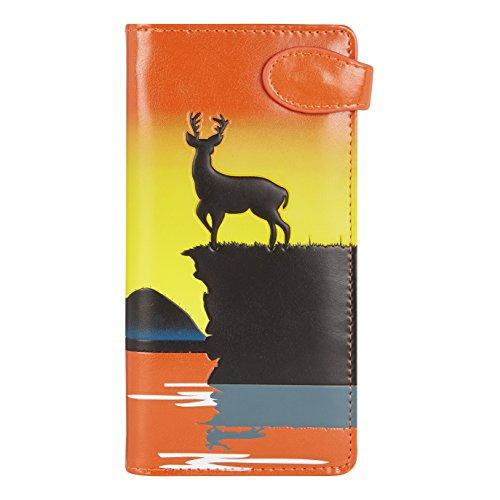 Shagwear portafoglio per giovani donne , Large Purse : (safari africano beige/ African Safari)