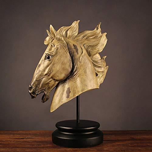 AFQHJ Auspicious Paard Hoofd Ambachten Hars Creatief Ontwerp Home Decoratie Cadeau TV Kast Wijn Counter Decoratie
