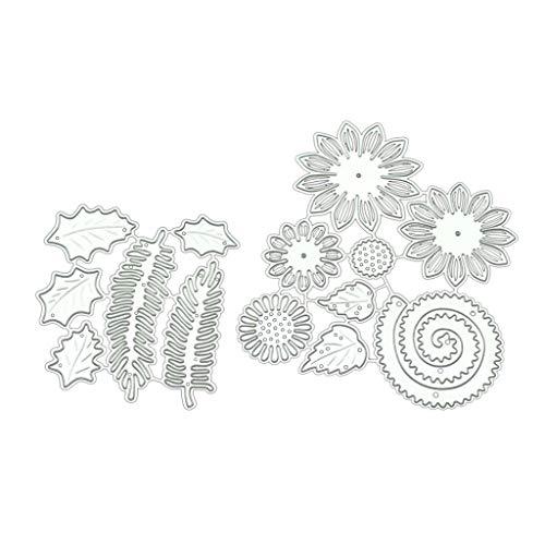 hgfcdd Sonnenblume DIY Metall Stanzformen Schablone Scrapbooking Album Papier Karte Handwerk