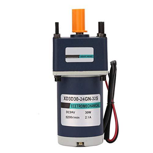 Motorreductor de reducción de 24 V CC, 30 W XD3D30-24GN-32S Imán permanente Motor de engranaje de reducción de CC Velocidad ajustable(Reduction ratio 5, 640RPM)