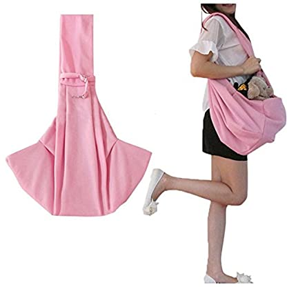 Grtdrm Pet Sling Carrier Bag Travel Tote for Cats Dogs, Up to 16 lbs (Pink) 2