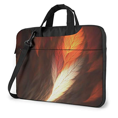 Laptop Shoulder Bag 13 inch, Abstract Feathers Business Briefcase Protective Bag Cover for Ultrabook, MacBook, Asus, Samsung, Sony, Notebook