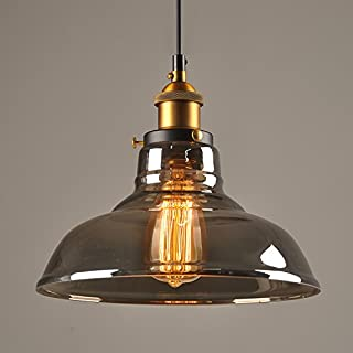 Verre Rétro Suspension Luminaire Industrielle Vintage Plafonniers Lustre Edison Culot E27 Eclairage de Plafond Lampe Suspe...