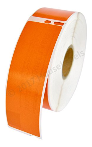 """50 Rolls; 350 Labels per Roll of Compatible with DYMO 30252 Orange Address Labels (1-1/8"""" x 3-1/2"""") - BPA Free!"""