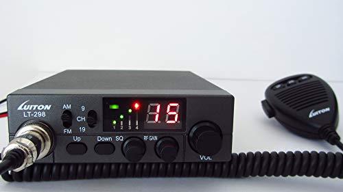 Luiton LT-298 Two-way Radio a due vie CB 27 MHz AM FM (banda cittadina) Multi-band con ASQ e cambio canale microfono, TX RX Signal Meter, versione CE