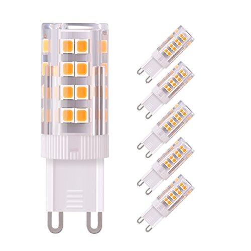 Sunix G9 Lampadina LED 5W(Equivalente a 50W Luce Bianca Calda, Lampadine) , 380Lm Non Dimmerabile, AC220V, CRI>80, Bagliore Romantico Temperatura 3000K, Lampadina LED Set da 5