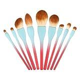 WCY Conjunto de cepillos de Maquillaje Súper Suave Principiante Maquillaje Herramienta de gradiente Mango Suave y Agradable for la Piel fácil de Limpiar yqaae