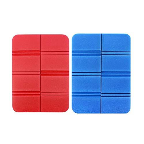 Voarge 2 Stück Sitzkissen Outdoor faltbar, Thermo sitzkissen, sitzkissen wasserdicht, Sitzunterlage isolierende, für Outdoor Garten Camping Picknick Wander (Blau, Rot) (Blau Rot)