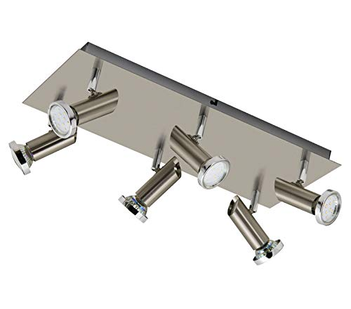 Trango Dimbare led-plafondlamp, plafondlamp, woonkamerlamp, plafondlamp incl. 5 W 3-traps dimbare LED-lamp 3000K warmwit, plafondspots, plafondlamp