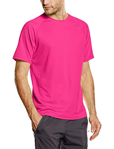 Fruit of the Loom Herren Performance T-Shirt, Rosa (Fuchsia), Gr. Medium