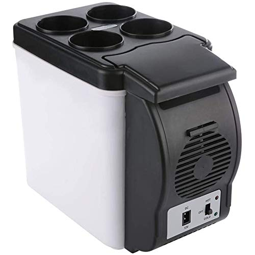 Compact Mini koelkast Portable Cooler Warmer klein rustig koelkast tafel- Fridge Ideaal voor Hotel Room with Small Office,White