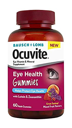 Bausch + Lomb Ocuvite Eye Health Gummies with Lutein, Zeaxanthin and Other Antioxidants, 60 Count Bottle (2 Pack)