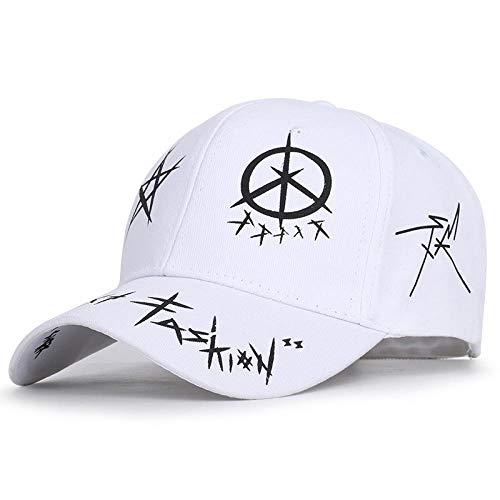 Gorra de Beisbol Gorra De Béisbol De Algodón Unisex Gorra De Graffiti Personalizada Sombreros Deportivos De Moda para Hombres Mujeres Gorra De Hip Hop Sombreros De Papá Blanco