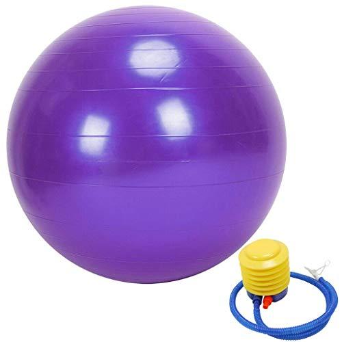 Balón de yoga antiestallidos, pilates, gimnasia, fitness, equilibrio de yoga, balón con bomba de pie, balón de equilibrio de estabilidad de calidad profesional 45 cm