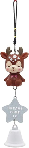 H W Mini Brown Cute Deer Wind Chimes For Kids Baby Brown Cute Girl Decorating Wind Chime Hanging Pendant WK6 D1 FL