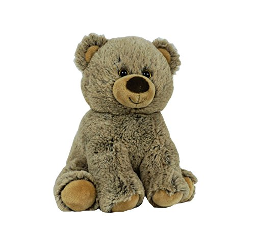 "BEARegards Comfort Bears Recordable Talking Teddy Bear 8"" Brown Grizzley Bear with 20 sec Digital Recorder"
