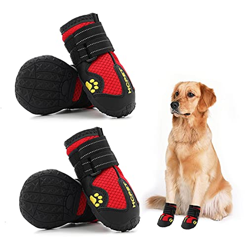 Hcpet Dog Boots Paw Protector, Anti-Slip Breathable Summer Dog Shoes with...