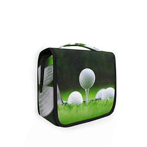 XIXIKO - Bolsa de aseo para colgar pelotas de golf, bolsa de viaje, organizador plegable, para maquillaje, para mujeres, niñas, señora