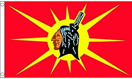 5ft x 3ft (150 x 90 cm) Mohawk native américain tribal Tribal MOHICAN 100% polyester matériel FLAG BANNER idéal pour BAR CLUB école FESTIVAL affaires Décoration pour fête