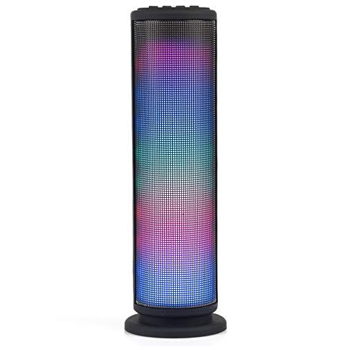 Intempo EE2928BLKSTK LED-Tower-Lautsprecher, AUX, Bluetooth für iPhone, iPad, Samsung Galaxy, Android und andere SmartUSB-Geräte, 3W, schwarz