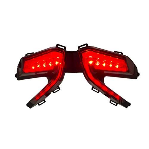 Red- Black Base Bargman 48-84-009 Horizontal Mount Triple LED//Incandescent Taillight