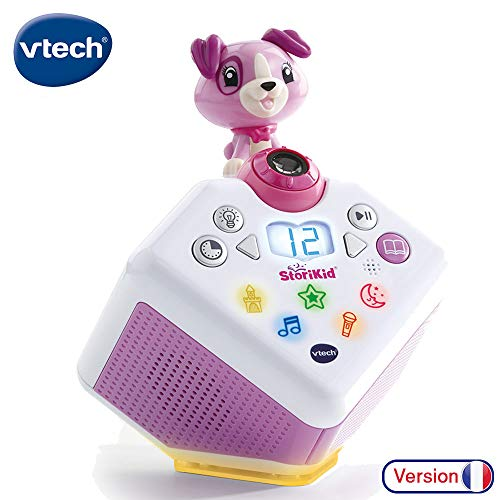 VTech - StoriKid – Mon conteur d'histoires rose, boîte à histoires enfant avec projection