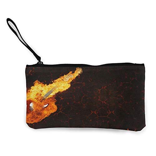 Burns Electro Guitar Lava Instrument Fire - Monedero de lona para mujer...