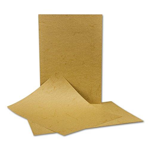 50 Stück DIN A4 Papier Bogen - 21 x 29,7 cm - Elefantenhaut DUNKEL - 110 Gramm/m² - Urkundenpapier - Speisekarte - beschichtet