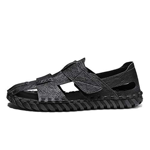 Luyangyund Sandalias de senderismo al aire libre para hombre Sandalias de deporte de arco de punta cerrada con punta ligera, sandalias para caminar, sandalias de pescadores, zapatos de agua de verano