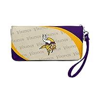 NFL Minnesota Vikings Curve Zip Organizer Wallet