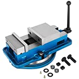 Happybuy 3 Inch Heavy Duty Milling Vise Bench Clamp Vise High Precision Clamping Vise 3 Inch Jaw Width with 360 Degree Swiveling Base CNC Vise