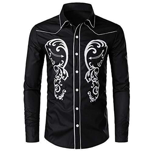 MUMU-001 Feitong mannen de herfst winter casual borduurwerk Chinese stijl lange mouwen pullover shirt slank sweatshirt top blouse