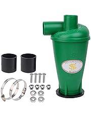 Cyklon separator pyłu filtr przeciwpyłowy SN50T3 wysokiej wydajności cyklon proszek pył zbieracz filtr separator siły odśrodkowej klasa wydajności energetycznej A do próżni z kołnierzem (zielony-1)