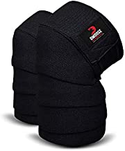 DMoose Fitness Knee Wraps for Weightlifting, Powerlifting, Deadlifting, bodybuilding, and Gym Workouts, 78 Inches Length (Pair), Reinforced Fastening knee wrap with velcro for Men and Women
