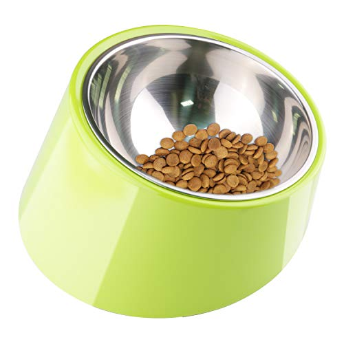 Super Design Mess Free 15° Slanted Bowl for Pugs