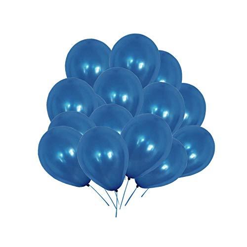 WedDecor Party Apfelgrün Latex Ballons Helium-Grade Luftballon für Jubiläum,Geburtstag,Baby Dusche,Festliche Dekorationen,Kinder Ereignis Stromversorgung, (Packung 100) - Königsblau, 100pcs