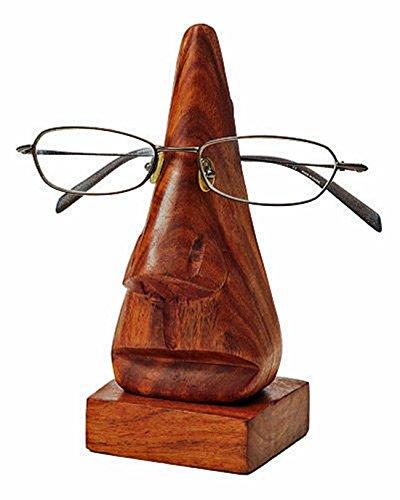 WhopperIndia Holz Spektakel Display-Ständer, Brillenhalter, Brillenhalter, Spec Holder, Sonnenbrille Halter, braune Farbe Bestes Geschenk für Männer und Frauen