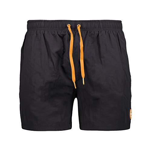 CMP Costume Corto da Bagno con Tasche, Uomini, 54, Antracite-Flash Orange