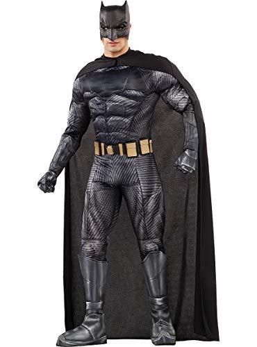 Funidelia   Disfraz de Batman - La Liga de la Justicia Oficial para Hombre Talla XL ▶ Caballero Oscuro, Superhéroes, DC Comics, Hombre Murciélago - Color: Negro - Licencia: 100% Oficial