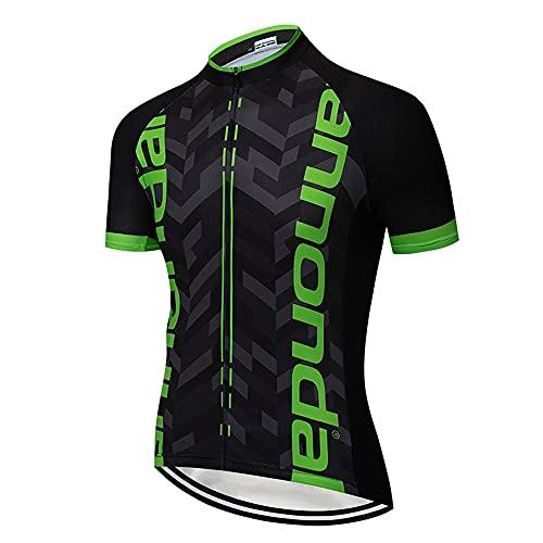Maglia Zip Uomo MTB Camicia Ciclismo Estate Abbigliamento Ciclismo da Uomo Magliette