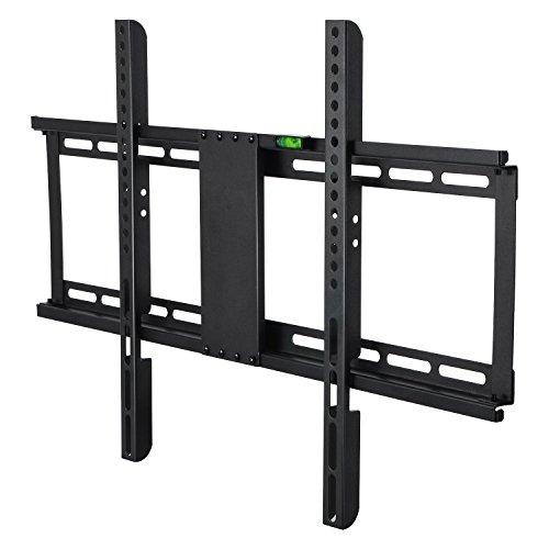 MODERNLIFE Support TV Mural Fixe pour téléviseur de 32-70 Pouces (80-180cm) en Acier Mince, Fixation Murale VESA 400x600mm, Charge 55 kg, Support Mural TV Ultra-Fin pour 4K 3D d'écran Plat et incurvé