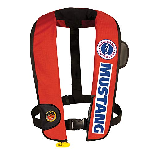 Mustang Survival - Inflatable PFD with HIT (Auto-Hydrostatic) - Bass Comp Color, One Size Fits All
