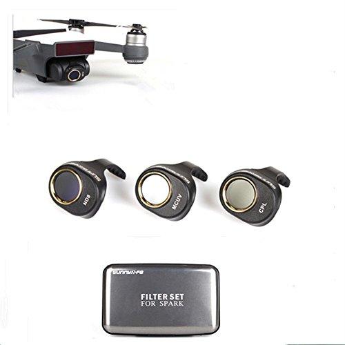 Lens Filter Sets MCUV+CPL+ND8 Polarizing Filter High Light Transmittance Lens Used for DJI Spark 3 in 1