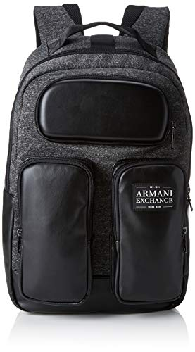 Armani ExchangePockets BackpackHombreMochilasNegro (Dark Grey/Black)44x18x27 centimeters (B x H x T)