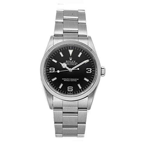 Rolex Explorer Mechanical (Automatic) Black Dial Mens Watch 14270 (Certified Pre-Owned)