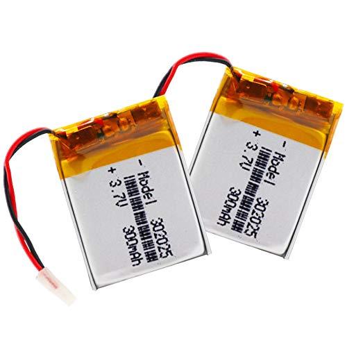 RFGTYH 3.7V 300mAh 302025 Baterías de polímero de Litio de polímero de Litio con PCM para MP3 MP4 MP5 Auriculares Bluetooth Reloj Inteligente 2piece